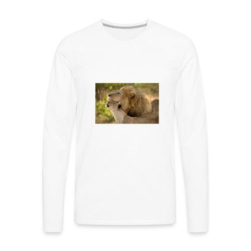 lions in love - Men's Premium Long Sleeve T-Shirt