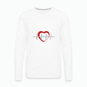 Nurse life heartbeat cardiac Nurse - Men's Premium Long Sleeve T-Shirt