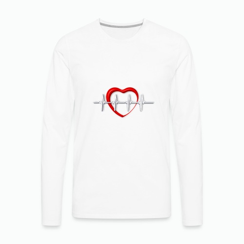 Nurse life heartbeat cardiac Nurse - Men's Premium Long Sleeve T-Shirt