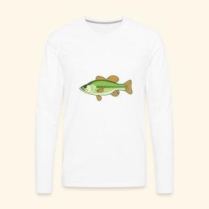 Fishking logo design - Men's Premium Long Sleeve T-Shirt