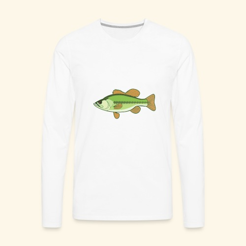 Fishking logo design - Men's Premium Long Sleeve T-Shirt