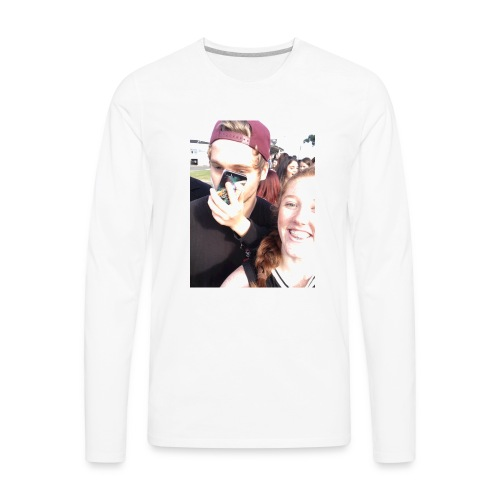 Luke Hemmings with a phone in his face - Men's Premium Long Sleeve T-Shirt