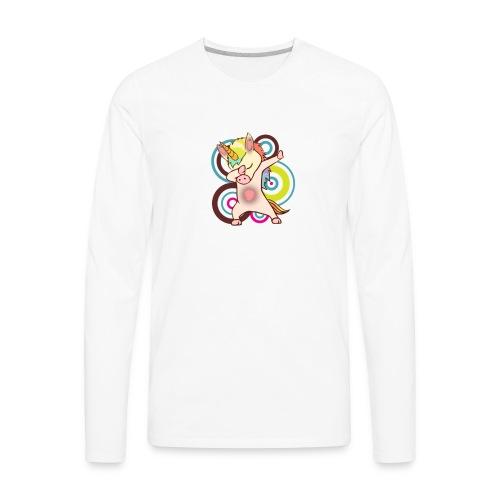 dabbing unicorn - cool unicorn - unicorn dab - Men's Premium Long Sleeve T-Shirt