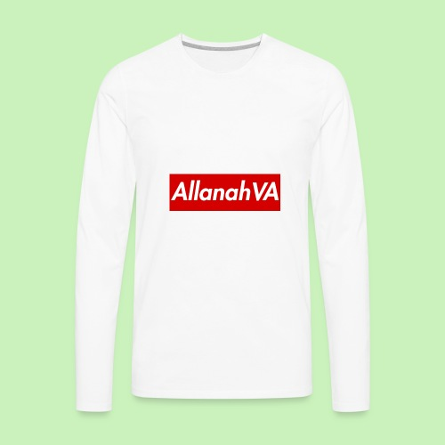 AllanahVA Supreme Red - Men's Premium Long Sleeve T-Shirt