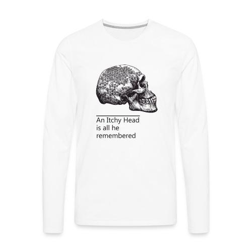 skull holes - Men's Premium Long Sleeve T-Shirt
