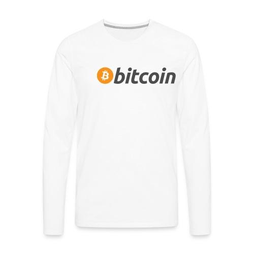 Bicoin logo - Men's Premium Long Sleeve T-Shirt