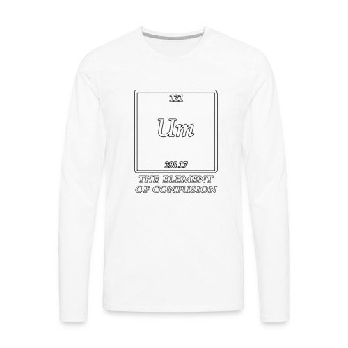 The element of confusion - Men's Premium Long Sleeve T-Shirt