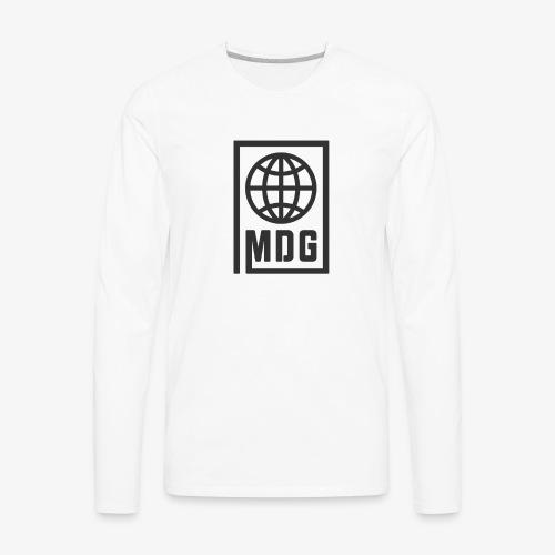 MDG Globe Concept - Black - Men's Premium Long Sleeve T-Shirt