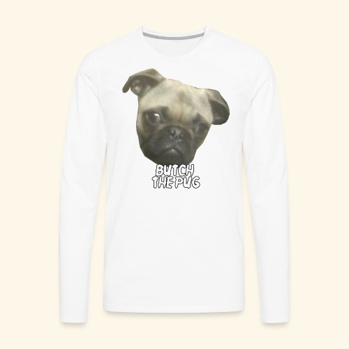 Butch The Pug - Men's Premium Long Sleeve T-Shirt