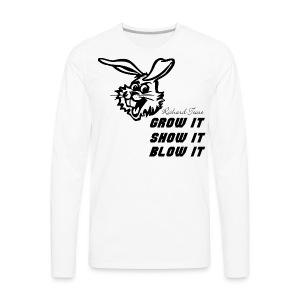Grow Show Blow - Men's Premium Long Sleeve T-Shirt