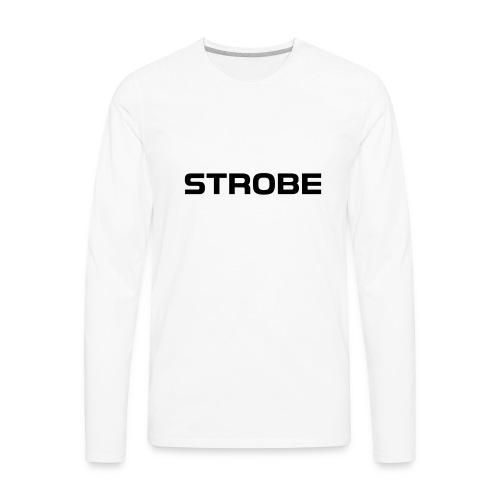 Strobe Logo - Men's Premium Long Sleeve T-Shirt