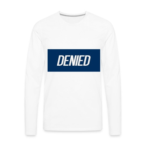 DENIED blauw - Men's Premium Long Sleeve T-Shirt