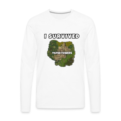 I SURVIVED TILTED TOWERS - Men's Premium Long Sleeve T-Shirt