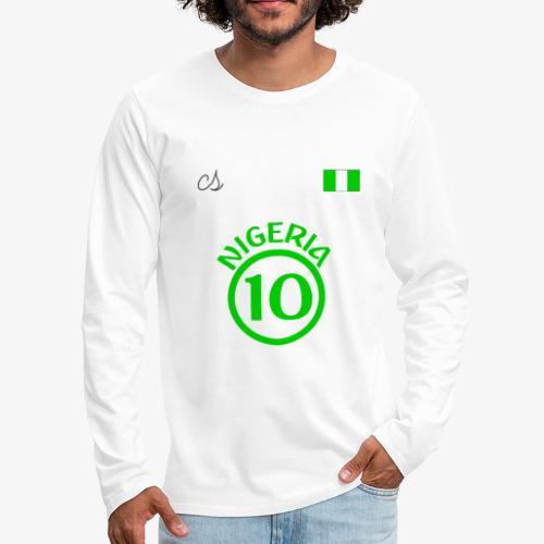 Nigerian Soccer Fan T-Shirt - Men's Premium Long Sleeve T-Shirt