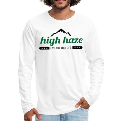 High Haze Logo (High Contrast) - Men's Premium Long Sleeve T-Shirt