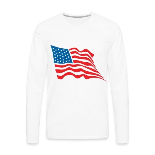 America Flag - Men's Premium Long Sleeve T-Shirt