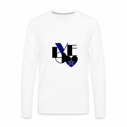 Cowboys Fan Love - Men's Premium Long Sleeve T-Shirt