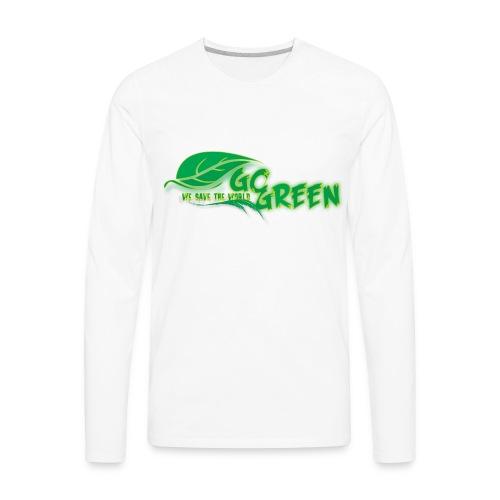 go green - Men's Premium Long Sleeve T-Shirt