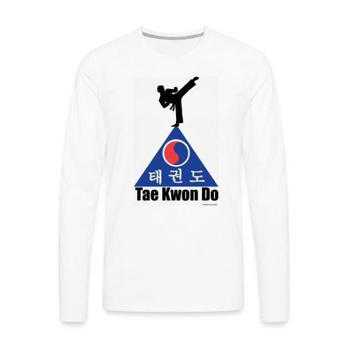 Taekwondo Pyramid - Men's Premium Long Sleeve T-Shirt