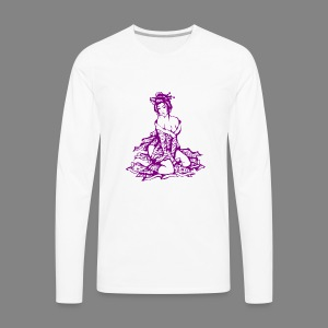 geisha purple - Men's Premium Long Sleeve T-Shirt