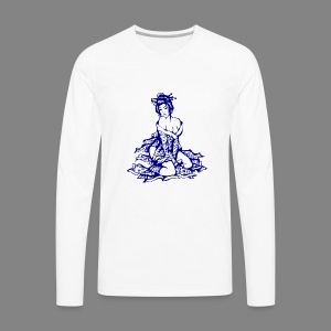 geisha navi - Men's Premium Long Sleeve T-Shirt