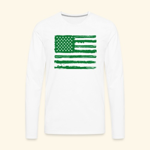 Free Denizens Legalize It US Cannabis Flag - Men's Premium Long Sleeve T-Shirt
