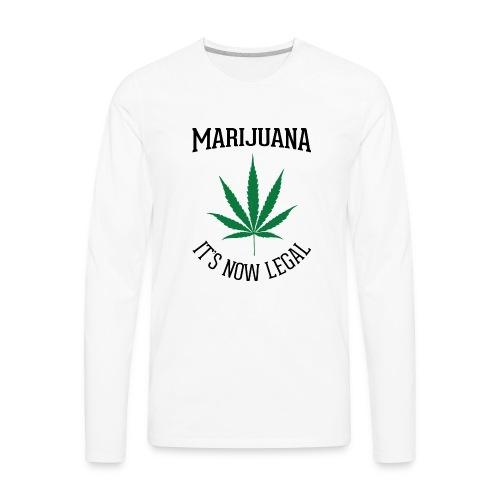 marijuana fan t-shirt - Men's Premium Long Sleeve T-Shirt