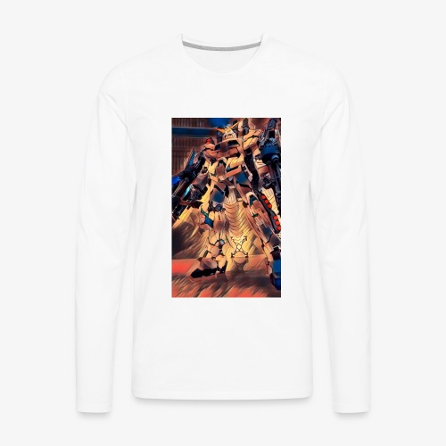 unicorn gundam - Men's Premium Long Sleeve T-Shirt