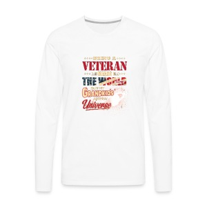 VETERAN PAPA T-SHIRT - Men's Premium Long Sleeve T-Shirt