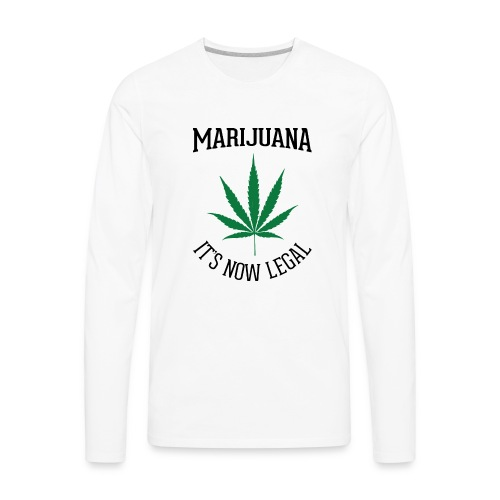 marijuana fan t-shirt - Men's Premium Long Sleeve T-Shirt