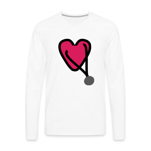 Heart Stethoscope - Men's Premium Long Sleeve T-Shirt