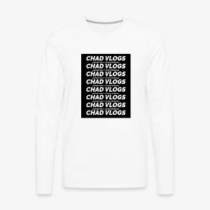 chad vlogs link design - Men's Premium Long Sleeve T-Shirt