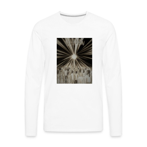 Black_and_White_Vision2 - Men's Premium Long Sleeve T-Shirt