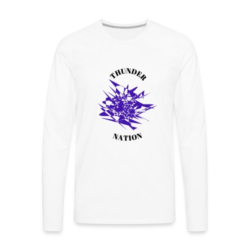 Thunder Nation Purple Star - Men's Premium Long Sleeve T-Shirt