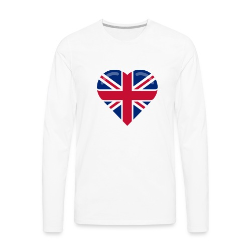 brit heart - Men's Premium Long Sleeve T-Shirt