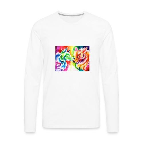 cute wolf - Men's Premium Long Sleeve T-Shirt