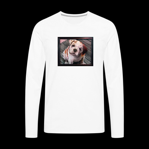 Esoteric Designs ~ Bulldog. Bull dog. - Men's Premium Long Sleeve T-Shirt