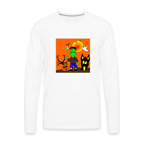 Halloween Frankenstein s Monster - Men's Premium Long Sleeve T-Shirt