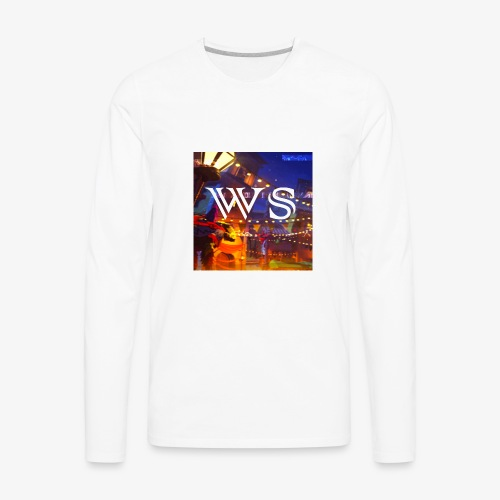 WindShot Logo 1 - Men's Premium Long Sleeve T-Shirt