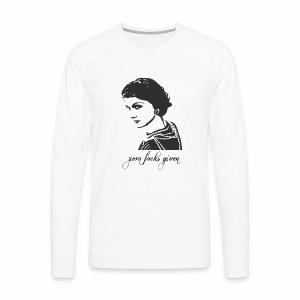 Coco Chanel - Zero Fucks Given - Men's Premium Long Sleeve T-Shirt
