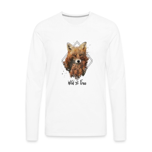 Wild & Free Fox - Men's Premium Long Sleeve T-Shirt