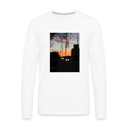 A blurry sunset - Men's Premium Long Sleeve T-Shirt