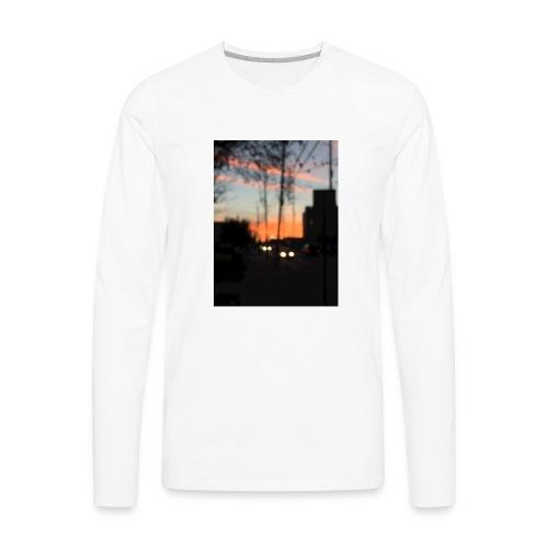 A blurry sunset - Men's Premium Long Sleeve T-Shirt