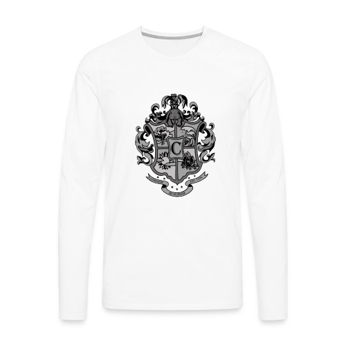 Coat of Arms with Bunny - Men's Premium Long Sleeve T-Shirt