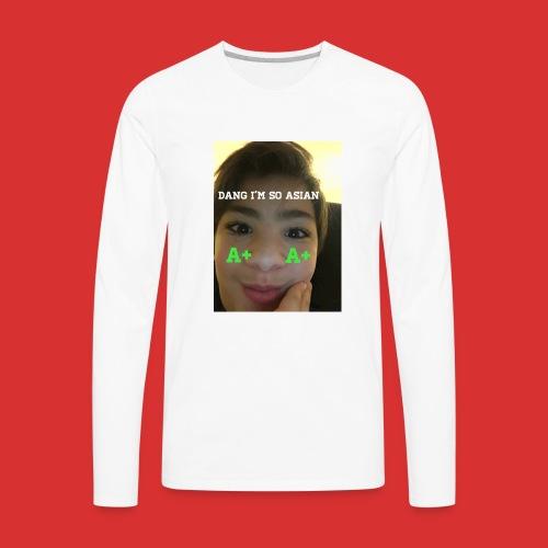 Asian guy - Men's Premium Long Sleeve T-Shirt