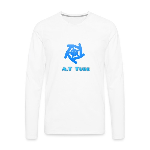 A.T Tube (White) - Men's Premium Long Sleeve T-Shirt