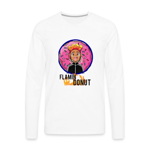 FLAMIN DONUT MERCH - Men's Premium Long Sleeve T-Shirt