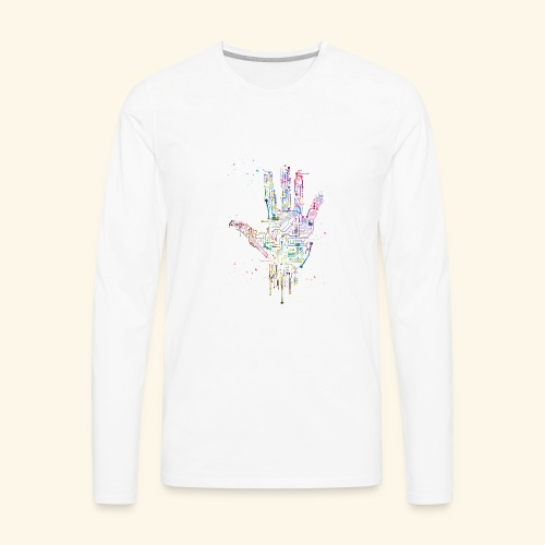 Circuit Hand - Men's Premium Long Sleeve T-Shirt