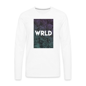 Floral Gradient - Men's Premium Long Sleeve T-Shirt