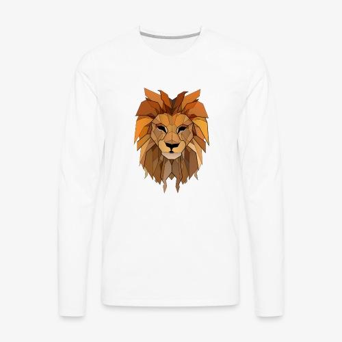 lion vintage - Men's Premium Long Sleeve T-Shirt